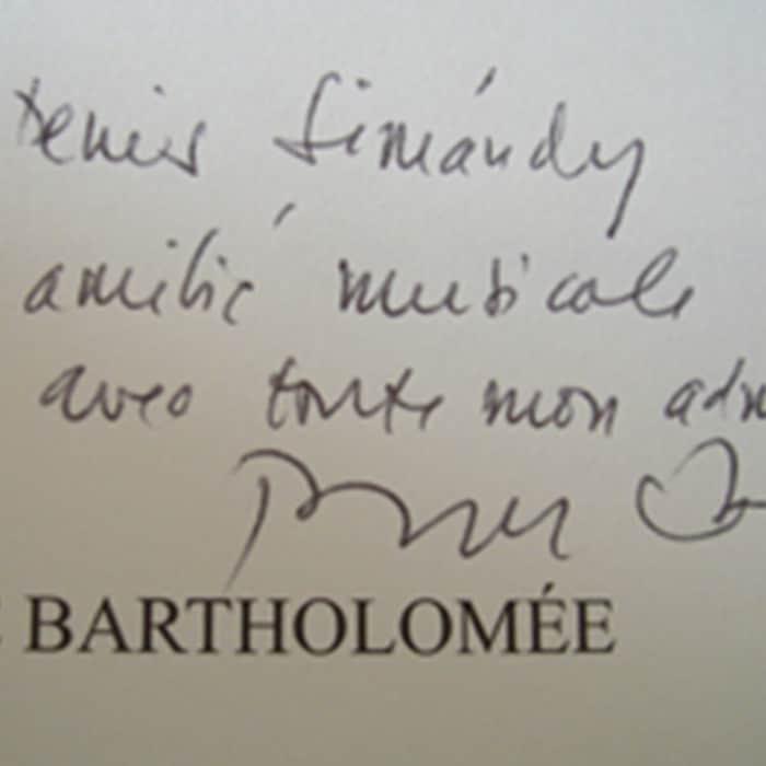 Dédicace de Pierre Bartholomée
