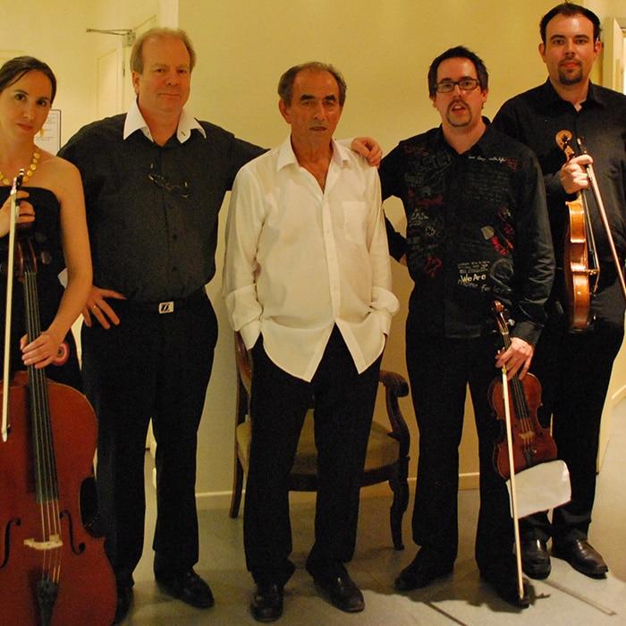 Le Quatuor Tana, Denis Simándy et Richard Bohringer