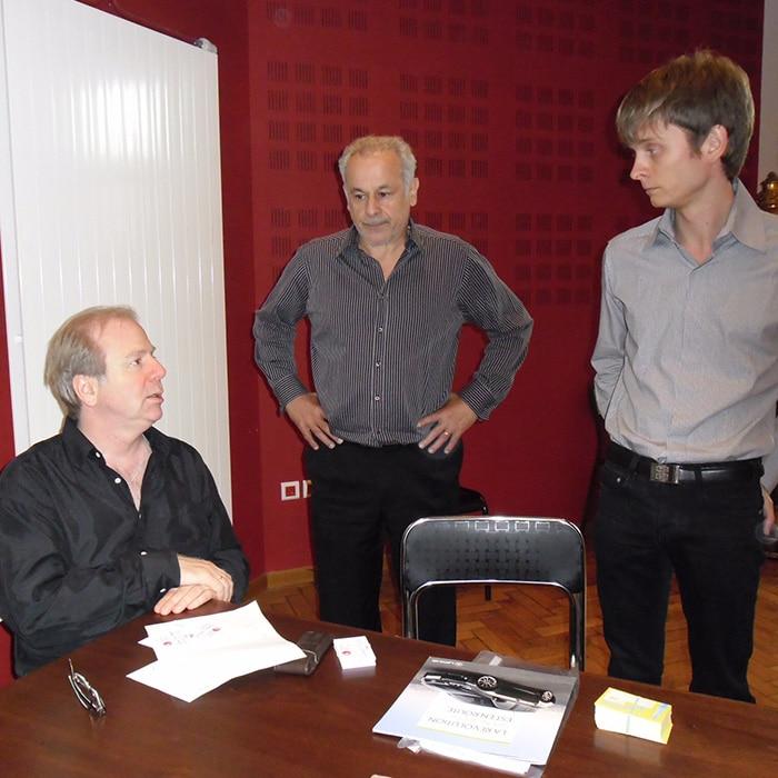 Denis Simándy, Francis Perrin et Loïc Serrurier