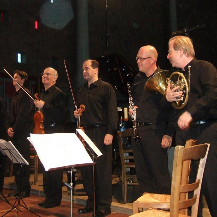 Le Fine Arts Quartet, Charles Michiels, Olivier Moulin et Denis Simándy
