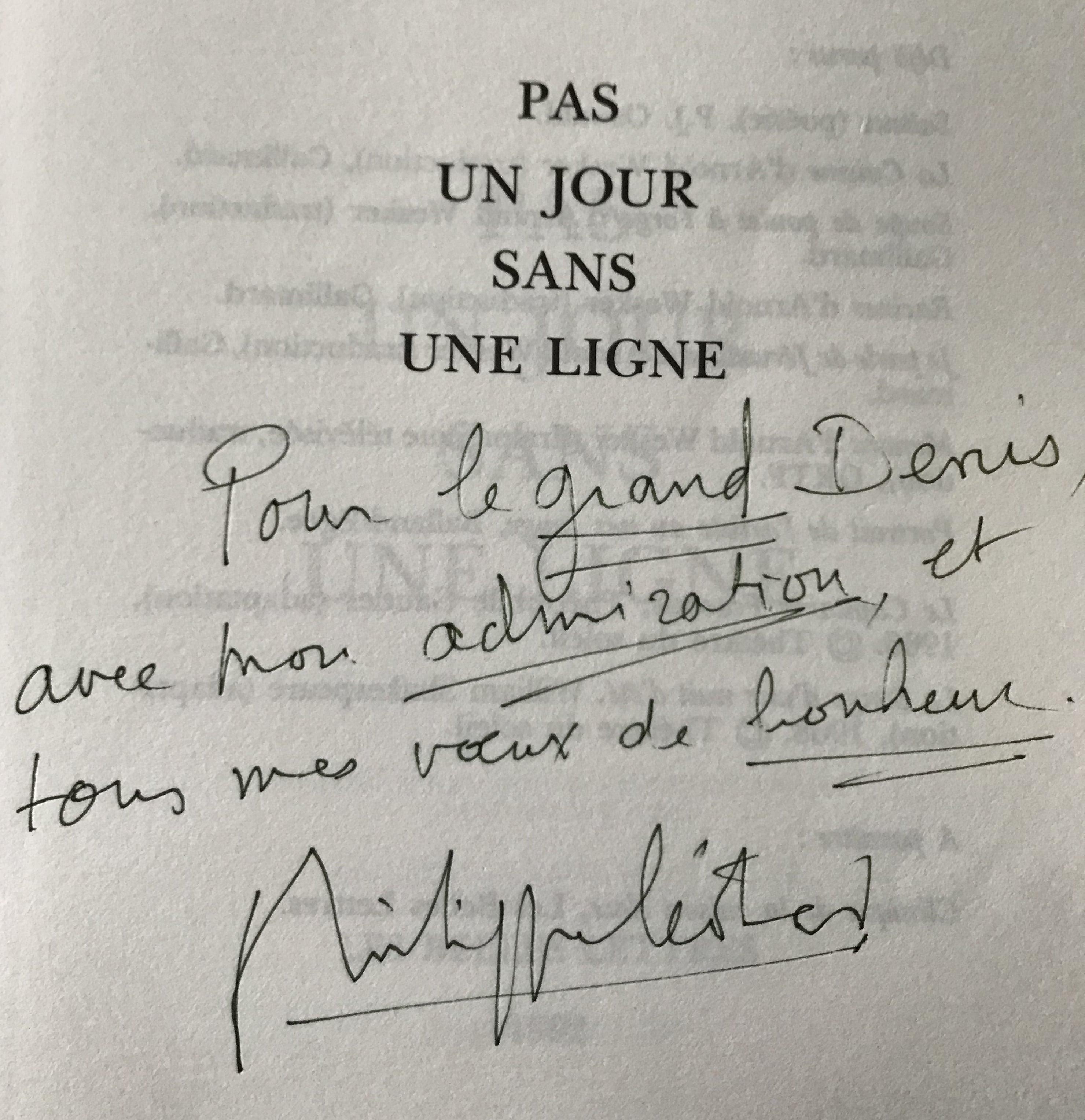 Dédicace de Philippe Léotard